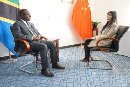 3月8日,坦桑尼亚驻华大使姆贝尔瓦·凯鲁基接受新华网专访。新华网发 李夏 摄