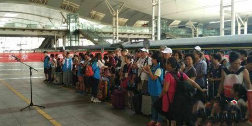 """""""鄂博号""""武汉至博州专列。湖北省文化和旅游供图"""