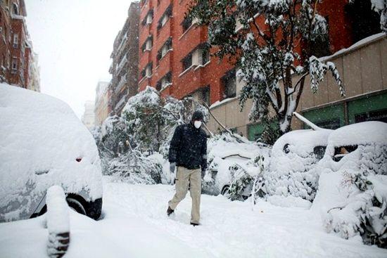 西班牙遭遇半世纪最大降雪。